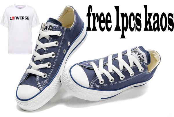 Jual Sepatu Converse All Star HIGH REAL PIC High Quality Free 1Pcs Kaos