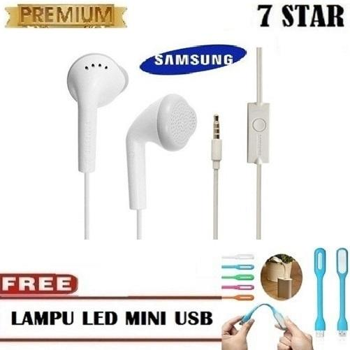Samsung Handsfree / Headphones / Earphone / Headset Samsung Untuk Semua HP - Putih + Gratis Lampu Baca USB LED 1 Pcs