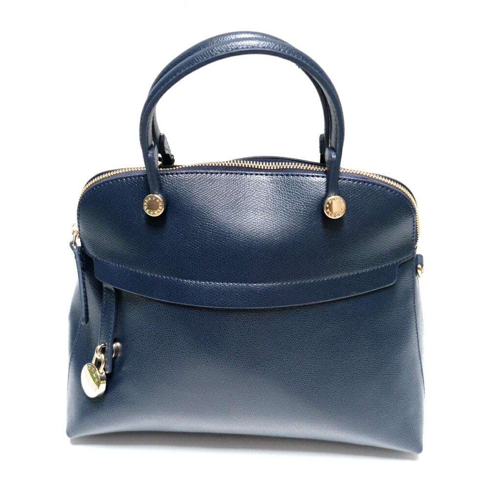 Furla Piper Dome Medium Satchel (Navy)