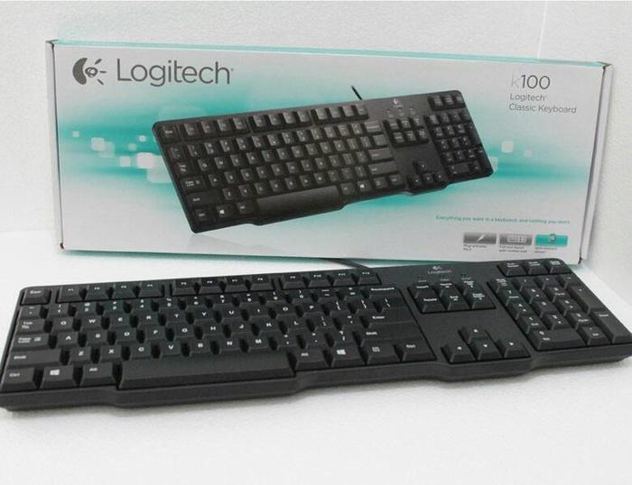 PROMO LOGITECH K100 - Keyboard Kabel PS/2 TERLARIS