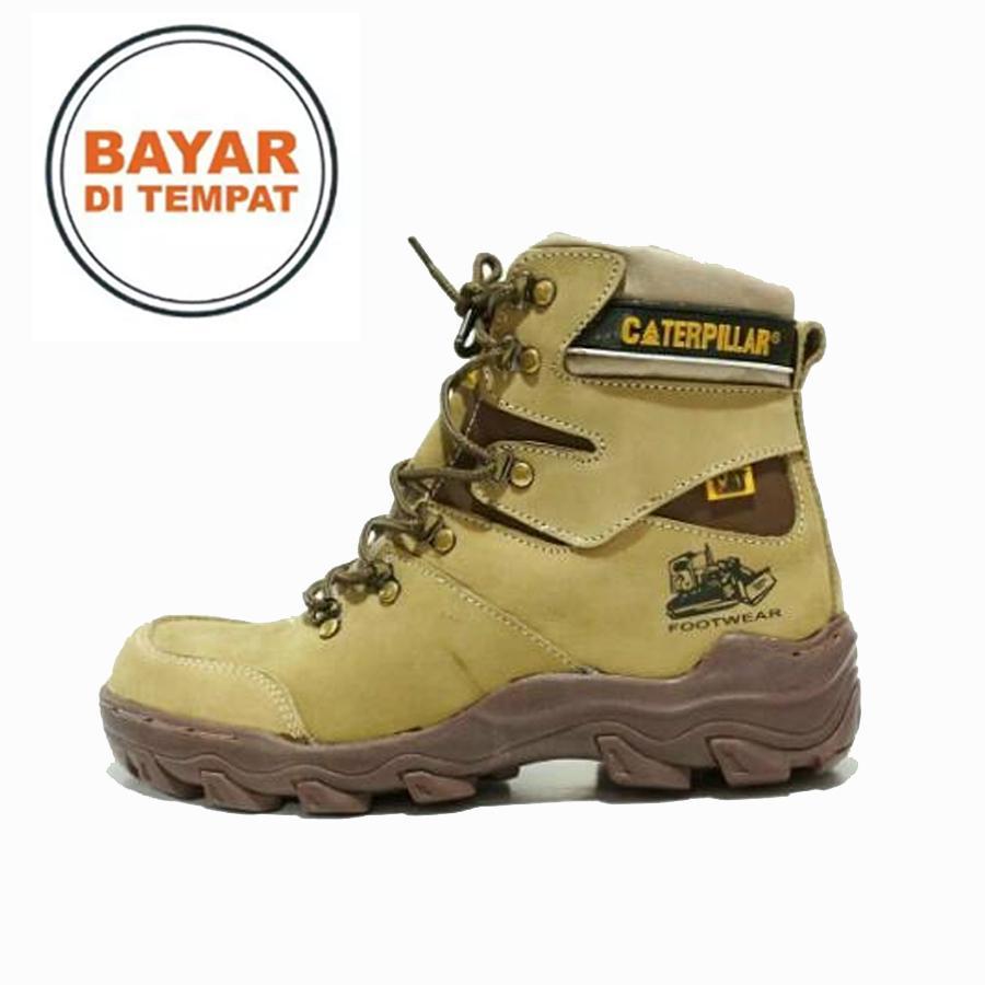 Sepatu Caterpillar Pajero Safety Boots KULIT ASLI