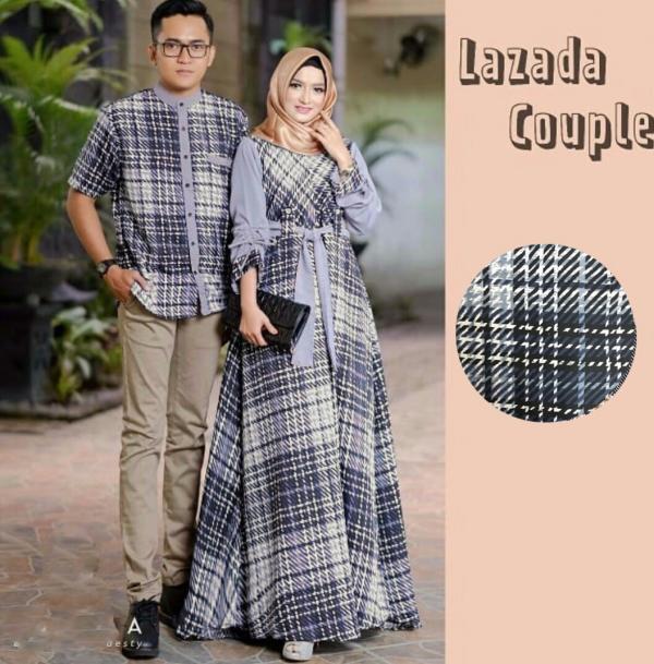Restok Lazada Couple Best Seller - Gamis Syari Muslim Murah Terbaru 2018 Grosir Pakaian Wanita Busana Pesta Maxidress Modern Baju Kurung Khimar