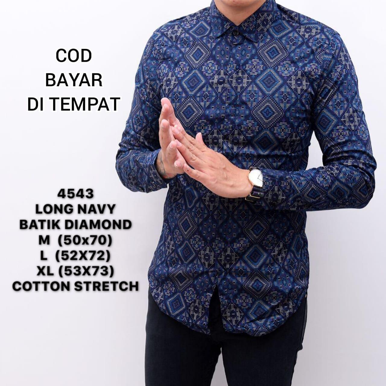 Kemeja batik songket pria murah/baju resmi cowok slimfit/batik songket pria distro premium diamond