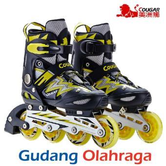 Beli sekarang Sepatu Roda COUGAR Inline Skate MZS835L Balck Yellow terbaik  murah - Hanya Rp676.418 78fca19945