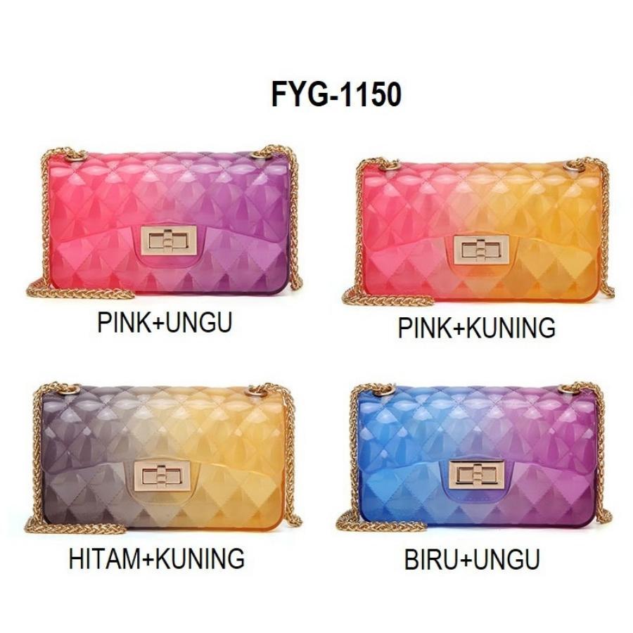 tas jelly gliter BISA BAYAR DITEMPAT jely silika jeli mini sling bag-Tas fashion import - Tas wanita