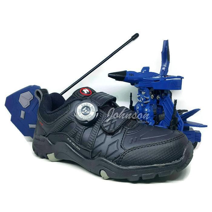 [ Johnson Shoes ] Sepatu Anak Sekolah HOMY PED AVA-TAR 02 Black 100% ORIGINAL Berhadiah Mainan Robot JET TRANSFORMER