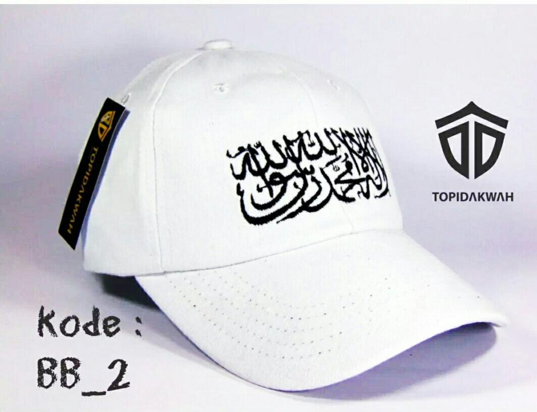 Topi distro pria/topi tauhid muslim style bela tauhid