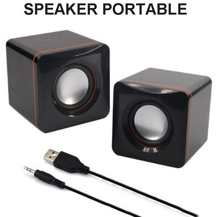 Blessing Speaker aktif mini Portable cocok untuk dikamar atau kost - Hitam