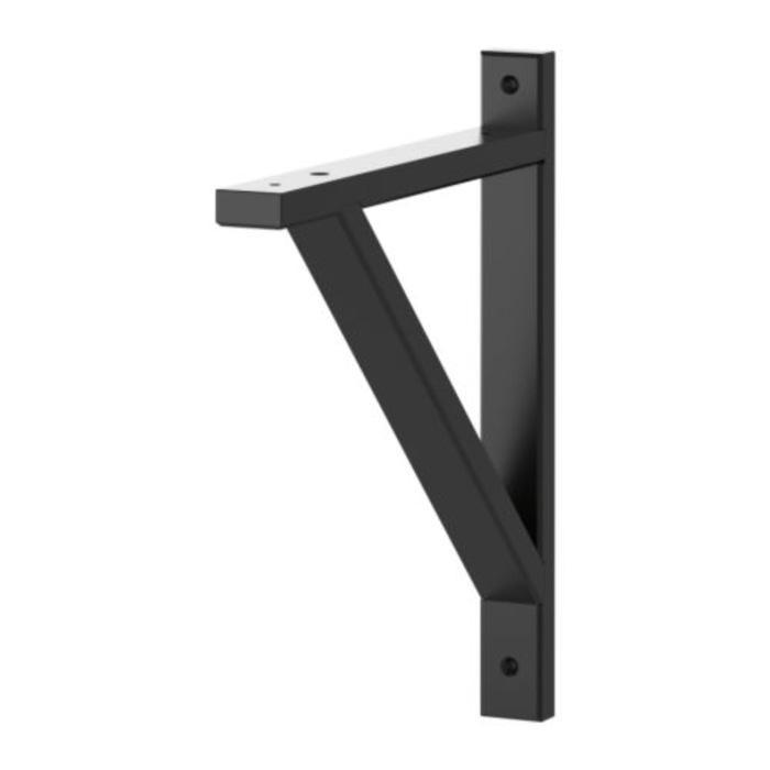 IKEA EKBY VALTER Braket 18 cm, kayu birch solid, Hitam