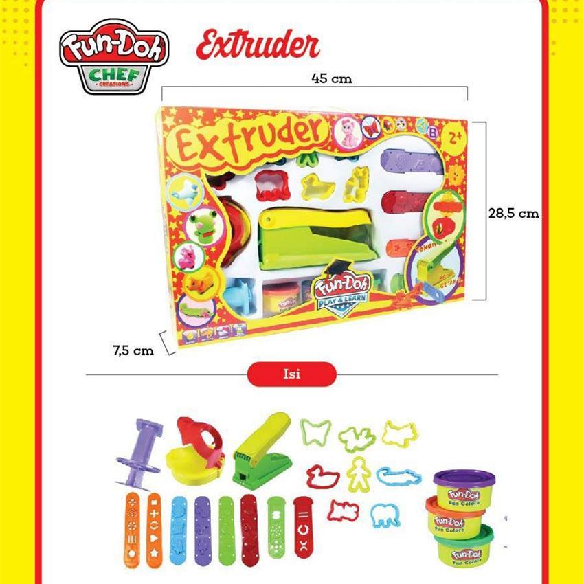 Fun Doh Extruder Play Set - Lilin Mainan By Plasamainan.