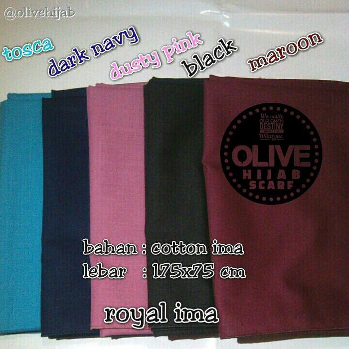 OLIVE hijab ima pashmina / pasmina / kerudung / jilbab 100% katun A3248