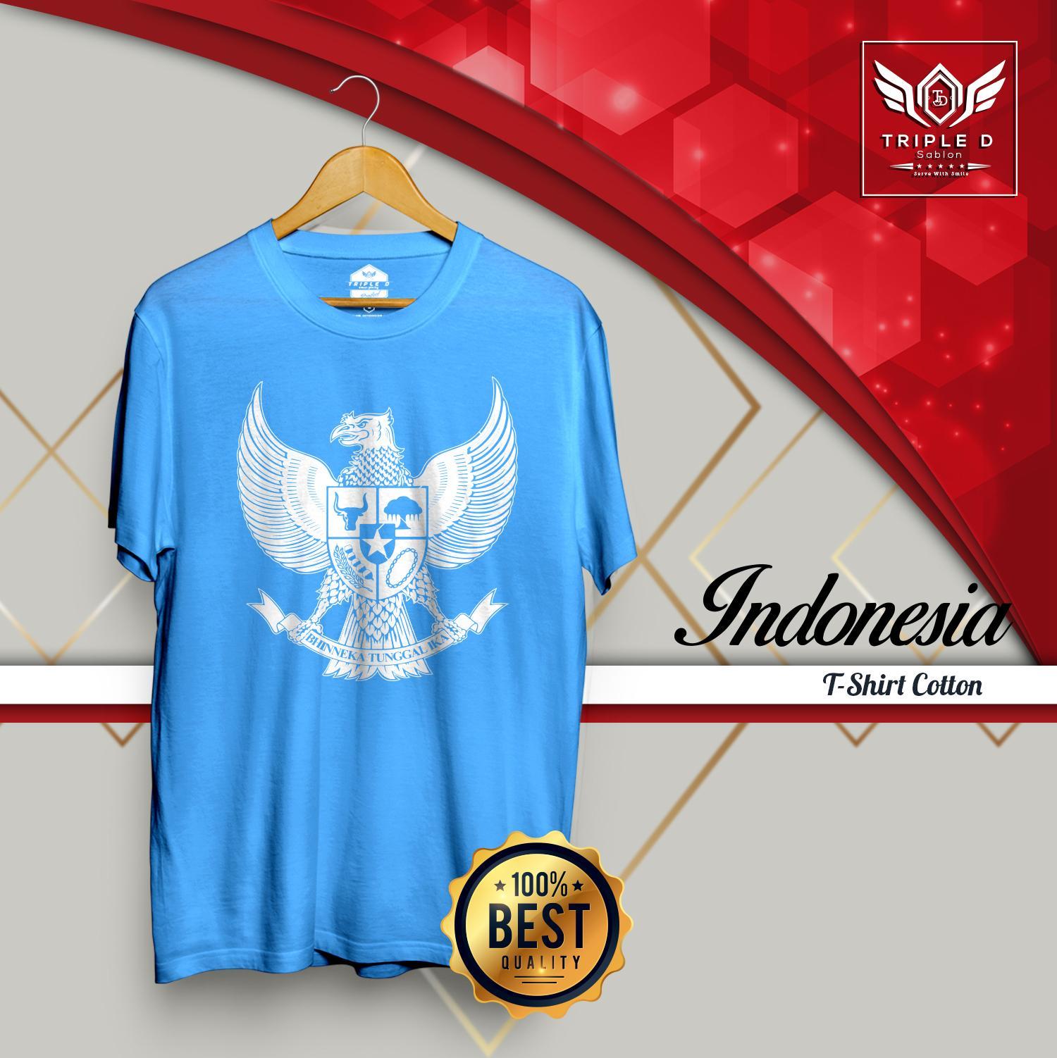 Jual Beli Alat Sablon Kaos Distro Promo T Shirt Persija 1928 Tulisan Arab Pria Wanita Garuda Indonesia Triple D