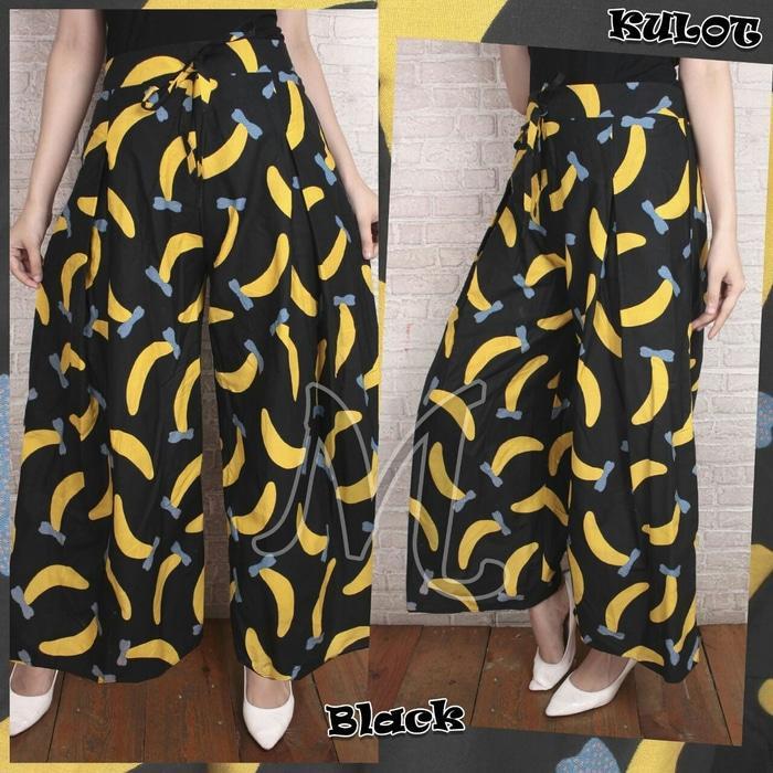 Celana Kulot Asifa Banana Black [Celana Rok Wanita 0111] RAR