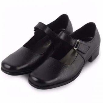 Fianabila Sepatu Pantofel Paskibra Wanita Bertali / Sepatu Sekolah Anak Wanita - BLACK
