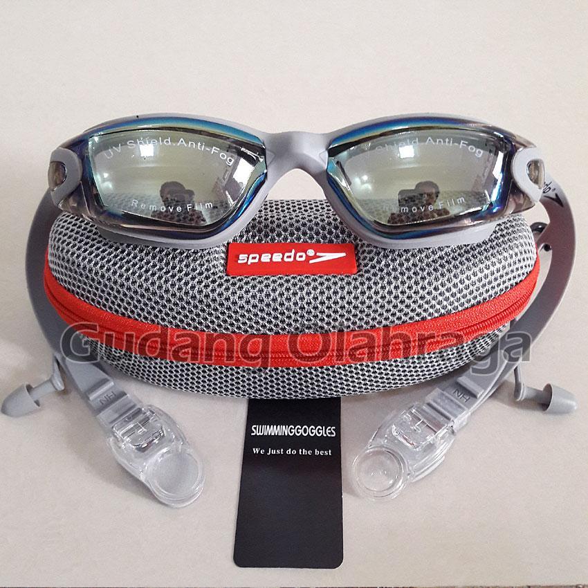 SPEEDO 866 Kacamata Renang Anti Fog & UV Protection - GREY