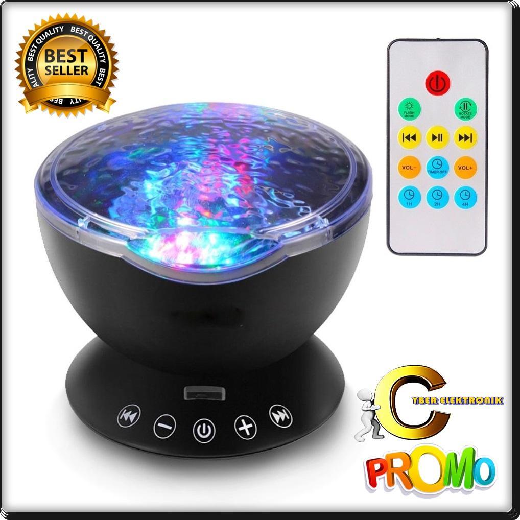 Cyber Speaker Proyektor Lampu LED dengan Remote Control - Black Technology canggih Suara jernih Audio bass mantap berkualitas