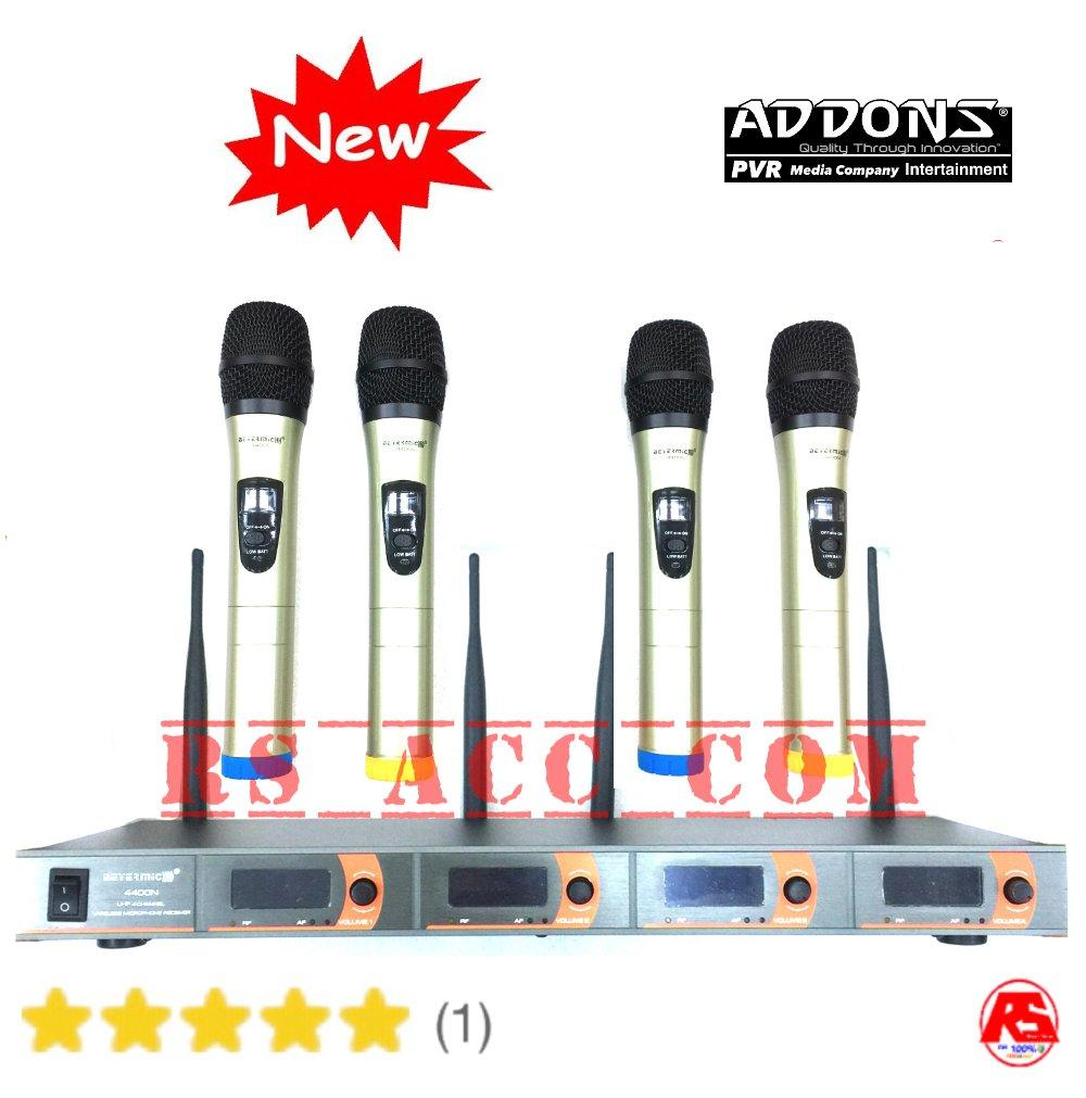Mic Wireless 4 Channel Professional Beyer Addons 4 Antena