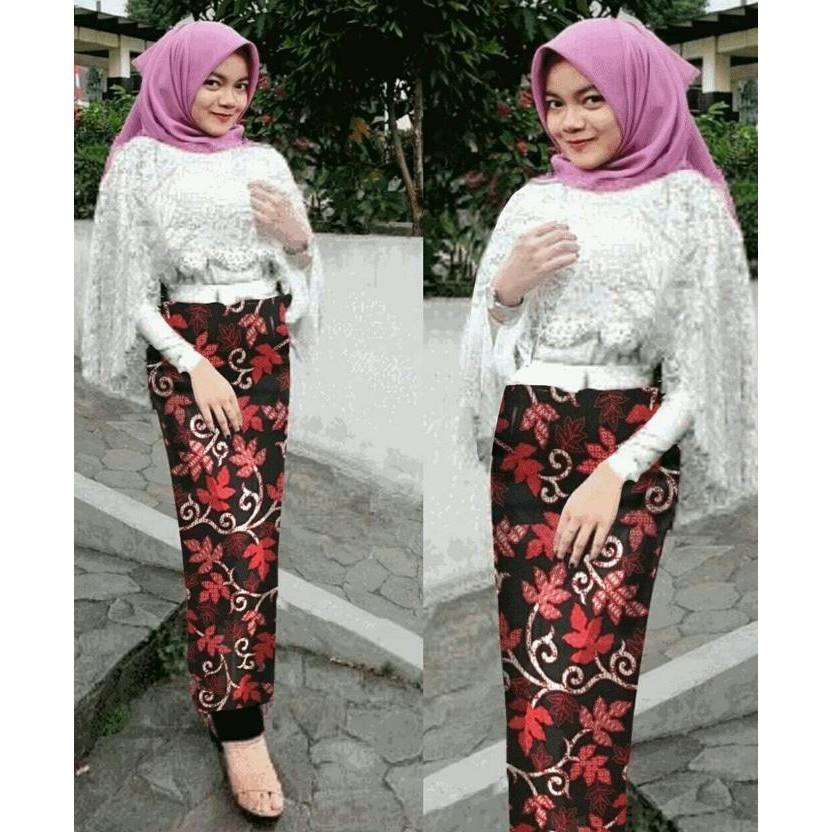 SET KEBAYA SITI WHITE 3IN1 HIJAB 0138 RAY - KLDGNJS