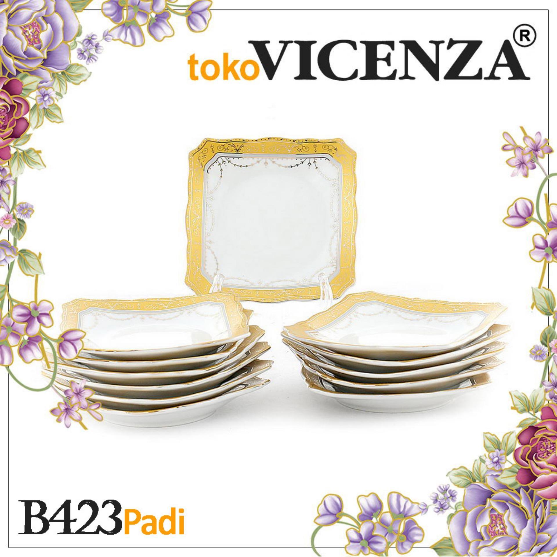 Jual Produk Vicenza Original Panci Set 12pcs V812 Small Square Plate B423 1 Lusin Motif Padi