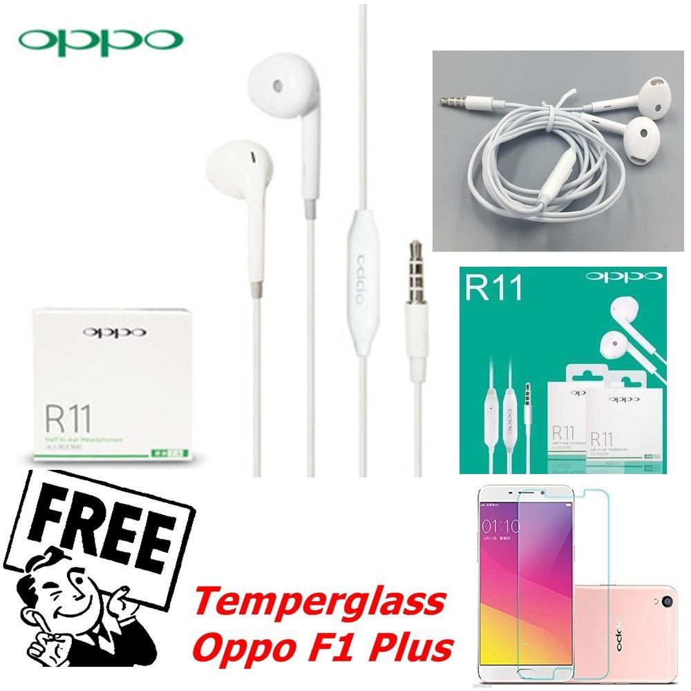 OPPO Handsfree / Headset 3,5 mm Stereo For OPPO R11 New Produk - Original FREE TG Oppo F1 Plus