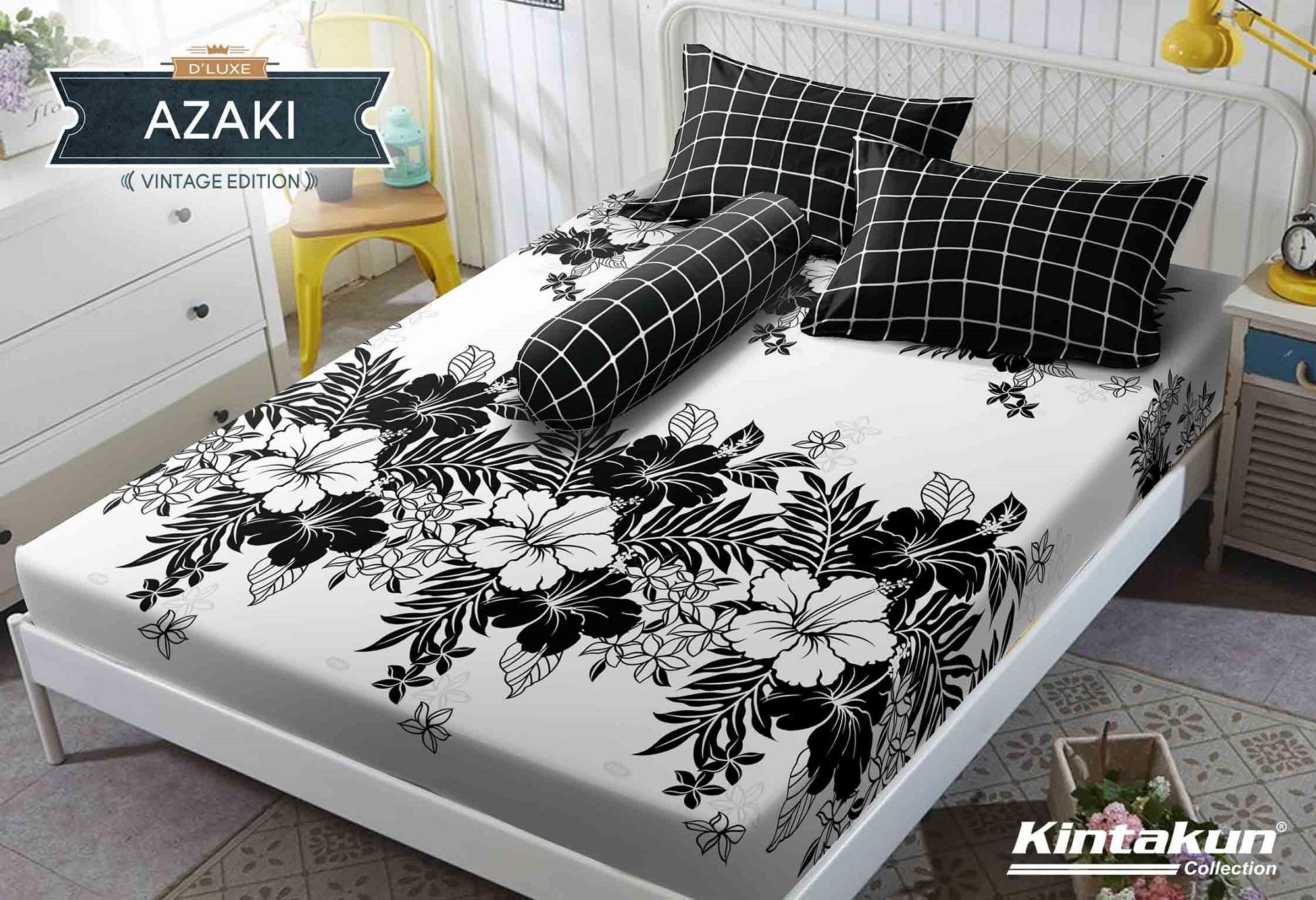 Sprei Kintakun DLuxe Single Size Vintage Edition Uk. 120x200 cm - Azaki