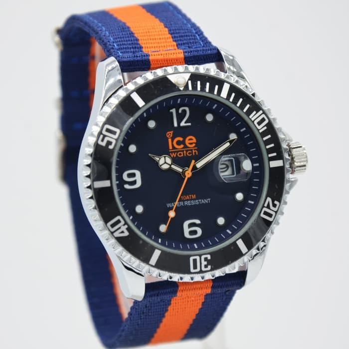 Jam Tangan Wanita / Jam Tangan Pria Jam Tangan Pria / Cowok Murah Ice Watch Kanvas Blue Orange