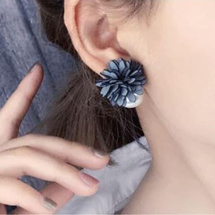 PROMO SAAT INI anting fashion korea stud earring bunga mutiara flower pearl jan122 TERLARIS