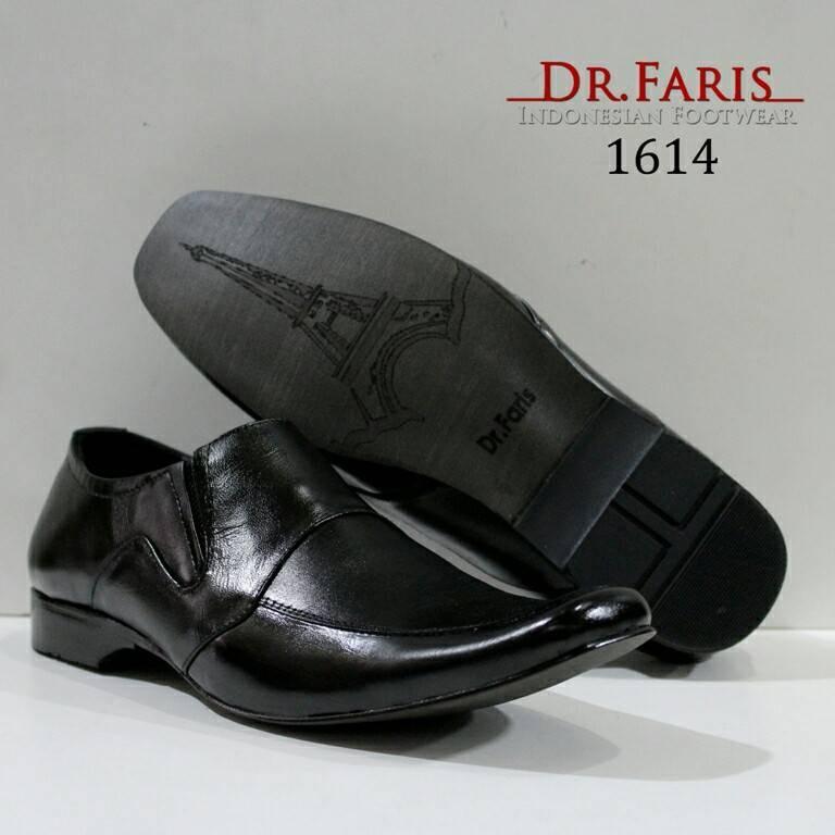 Sepatu Pantopel Formal Kulit Asli Pria Best Quality - DR FARIS 1614 - Hitam
