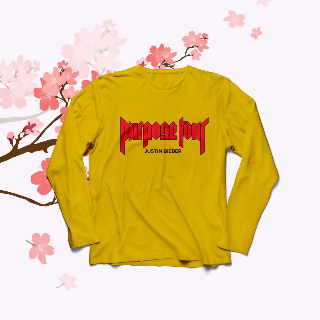 POLARISSHIRT - Baju Kaos T- shirt PURPOSE TOUR Lengan Panjang Longsleeve Cewek / Kaos Wanita