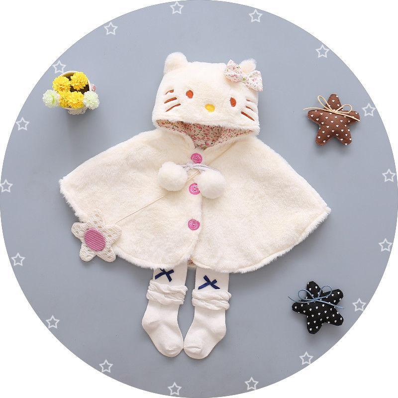Bayi Bayi Kucing Bertudung Cloak Poncho Jaket Tahan Dr Pakaian Lengan Hangat Snowsuit-Internasional By Gm Mall.
