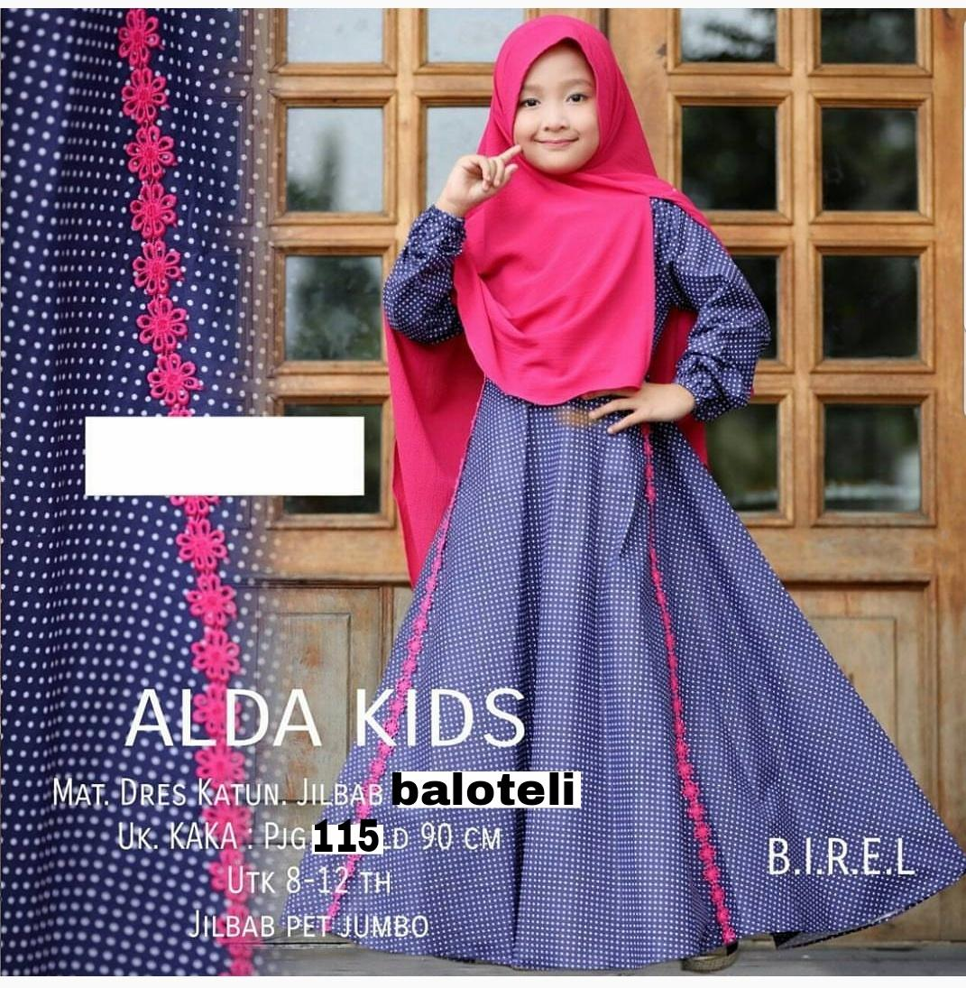 Newone Shop Alda Kids Gamis Syari Anak Perempuan - Best Seller - Baju Muslim Anak Wanita
