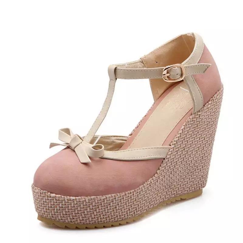 Harlee Store-Sepatu Wanita Wedges Sandal Wedges Gelang Pita HS-1118