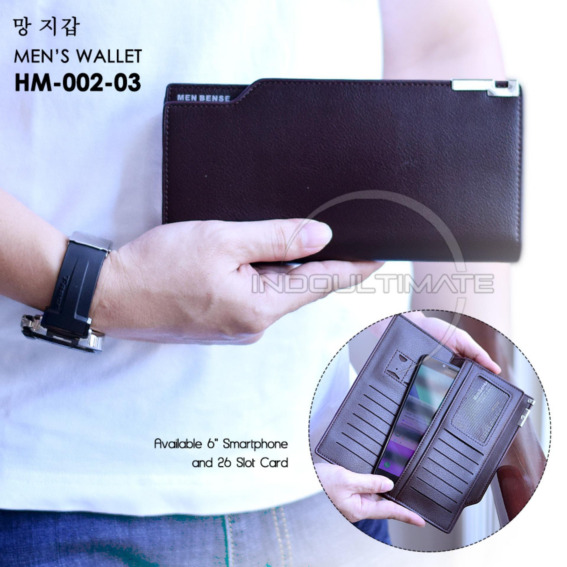 Ultimate Dompet Pria HM-MBS-002-03 - Brown / Dompet Cowok Kartu ATM Panjang Lipat Kulit Import Murah