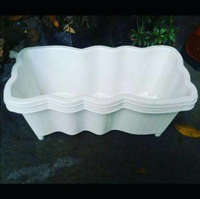 pot panjang sgp / pot plastik / vas bunga / dekorasi