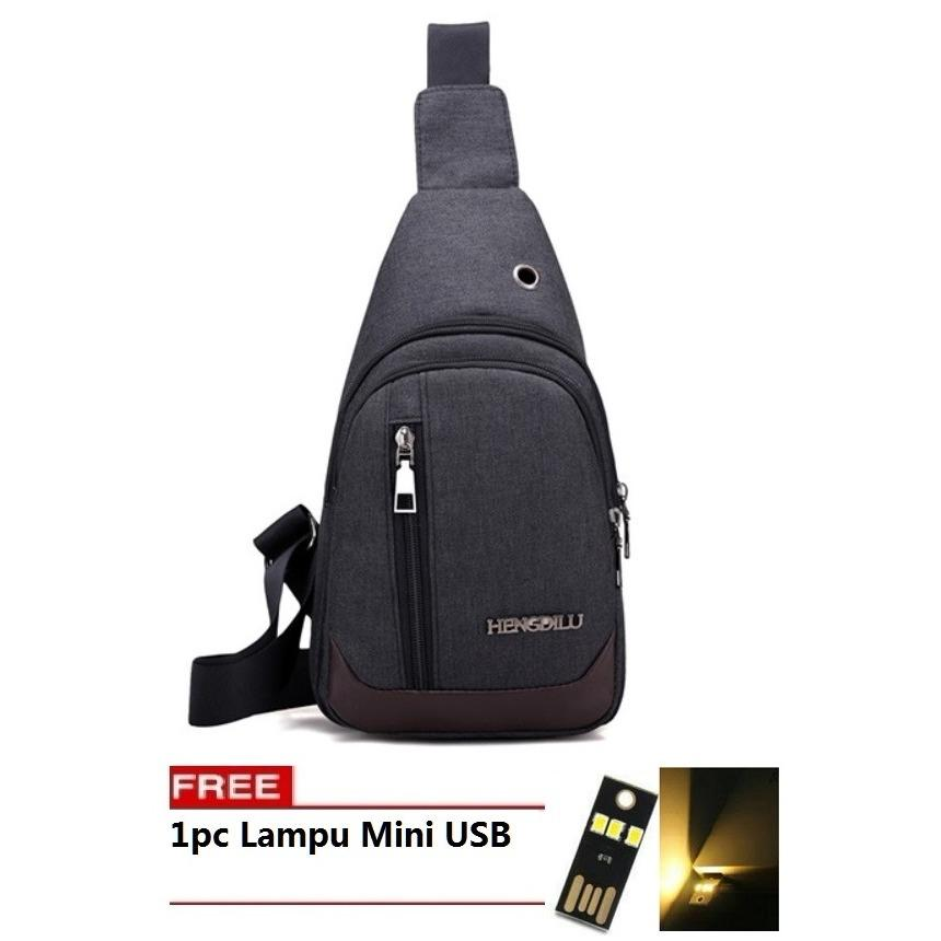 BEST Bag Tas Selempang WATERPROOF 501 Kanvas Men Sling Back Cowo Cewe  Messanger Shoulder Bag FREE d9ffea7a59