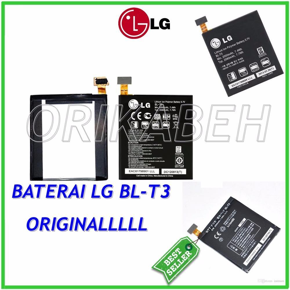LG Baterai / Battery BL-T3 For LG Optimus Vu Original - Kapasitas 2000mAh ( orikabeh )