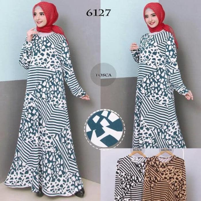 Kenzmal- Maxi Gamis Dress Baju Muslim Wanita Baju Gamis Wanita Gamis Jumbo Xxl Bahan Jersey Korea 6727