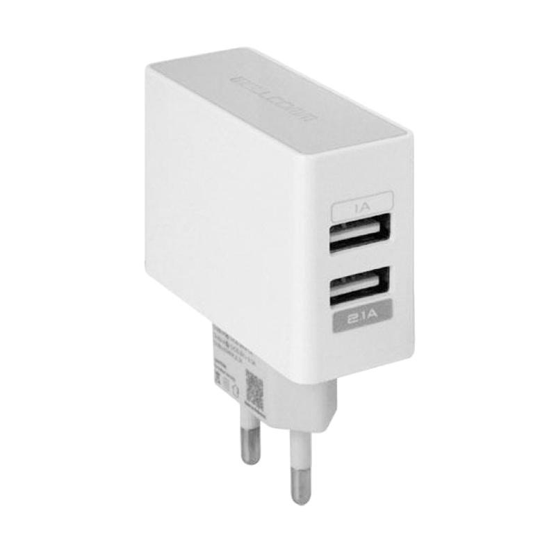 Gogo Grosir Wellcomm Dual USB Travel Charger 2.1A - Charger - Putih