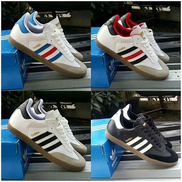 PROMO!!! Sepatu Adidas Samba Cowok Cowo Men Man Pria Neo Casual Putih Hitam New