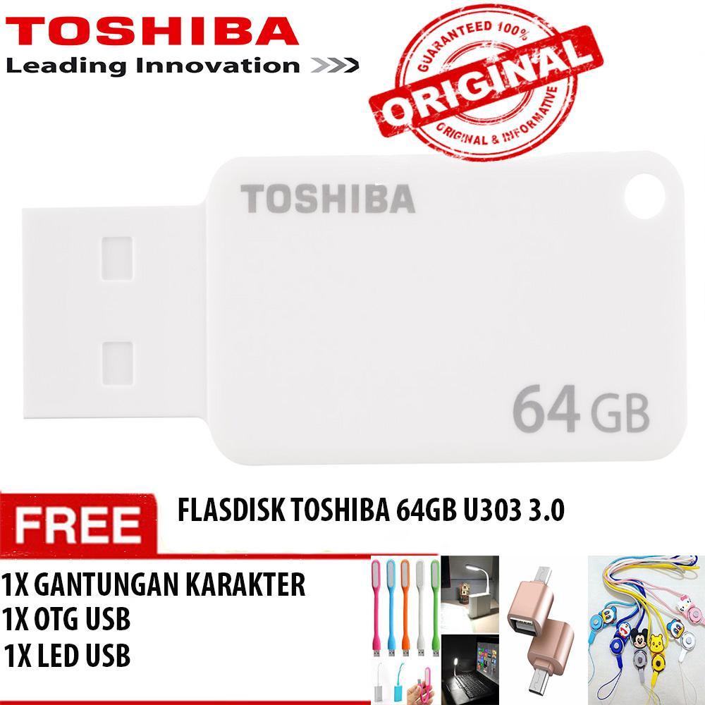 List Harga Flashdisk Toshiba 64gb 2016 Lengkap Dan Termurah Cek Flash Disk 64 Gb U303 Usb 30 Akatsuki Free Gantungan Karakter Otg Led