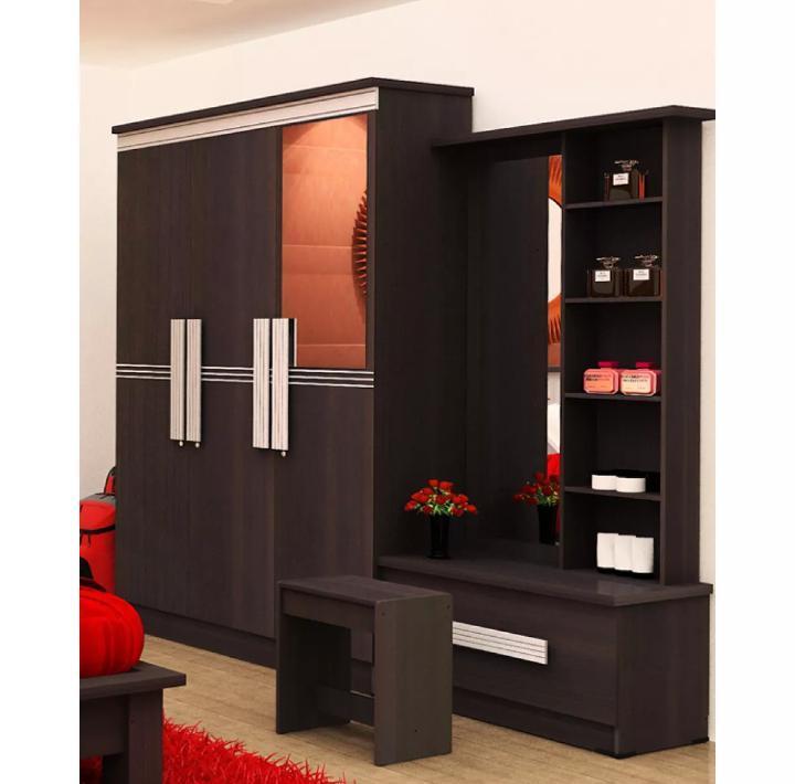 Graver Furniture Lemari Pakaian dan Meja Rias - Paket Hemat
