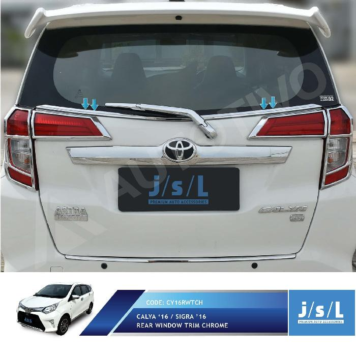 Toyota Calya List Kaca Jendela Belakang JSL / Rear Window Trim Chrome