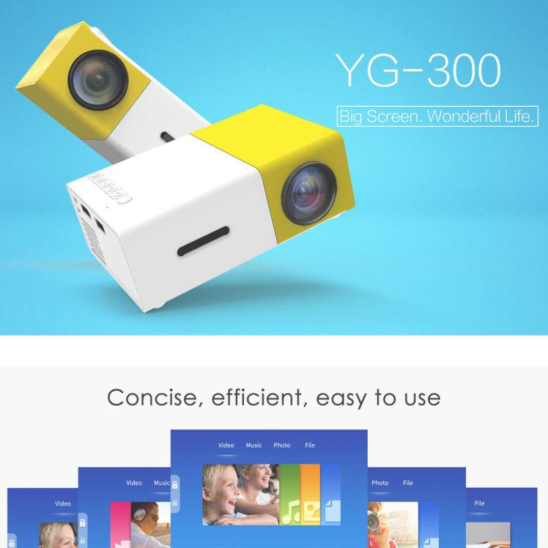 YG - 300 LCD Projector 400 - 600LM 320 x 240 Home Theater - intl