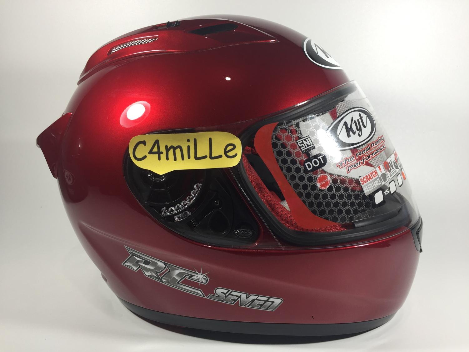 HELM KYT RC7 RED MAROON FULL FACE RC 7 SIZE L