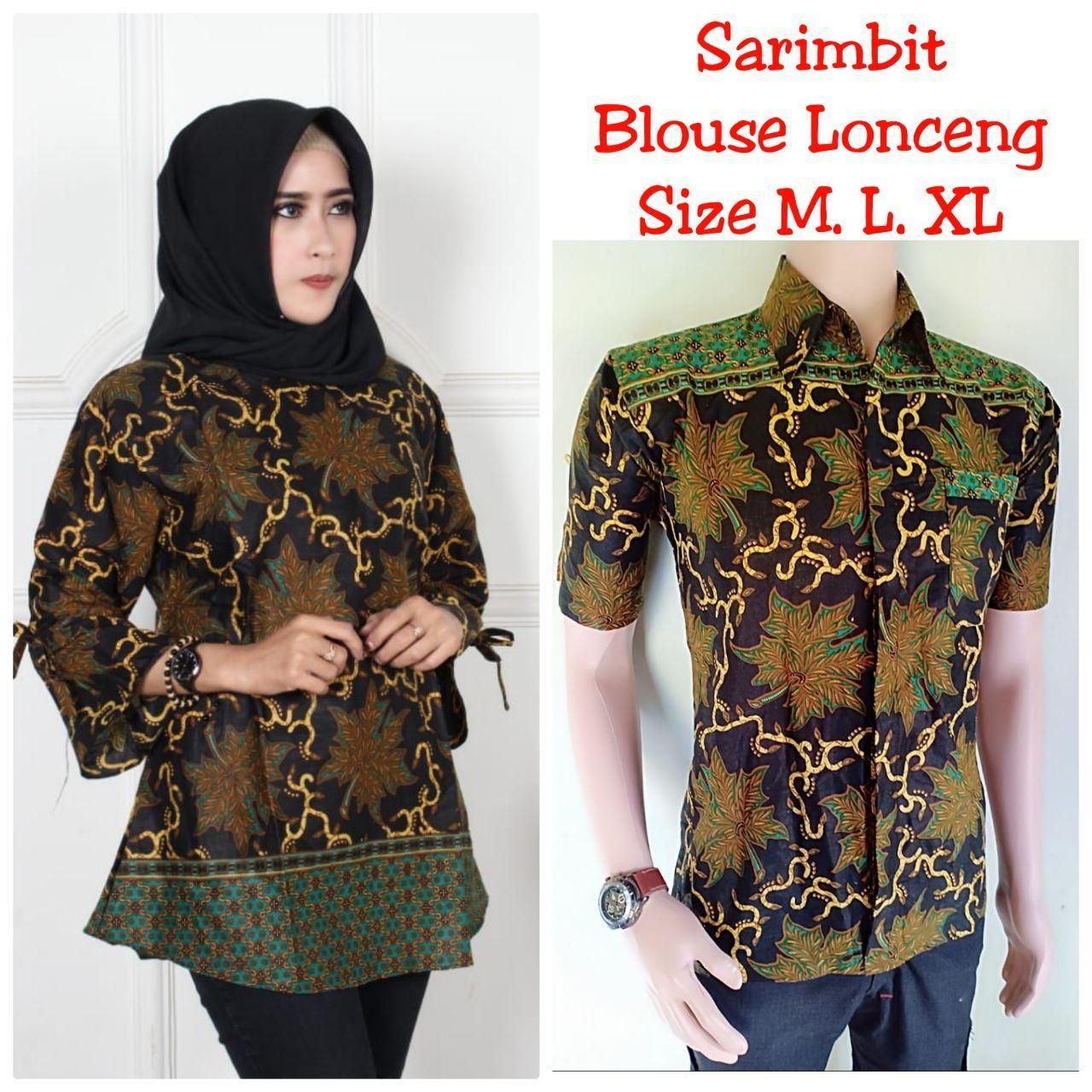 Sarimbit Batik Baju Batik Couple Keluarga Seragam Guru Modern