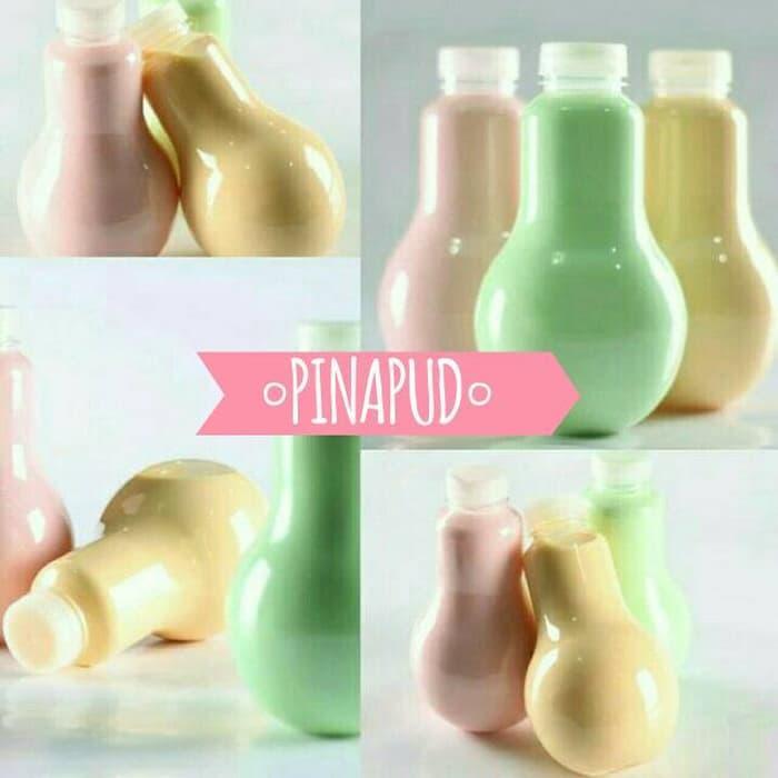 HOT PROMO!!! Botol Puding 330ml Bohlam / PET Plastik / Botol Minuman - ftmfPX