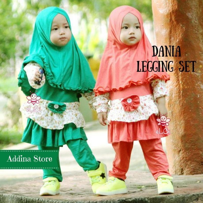 Elbi Dania Legging Set / Baju Bayi / Baju Bayi Perempuan / Baju Muslimah Bayi / Setelan Blouse dan Legging / Addina Store