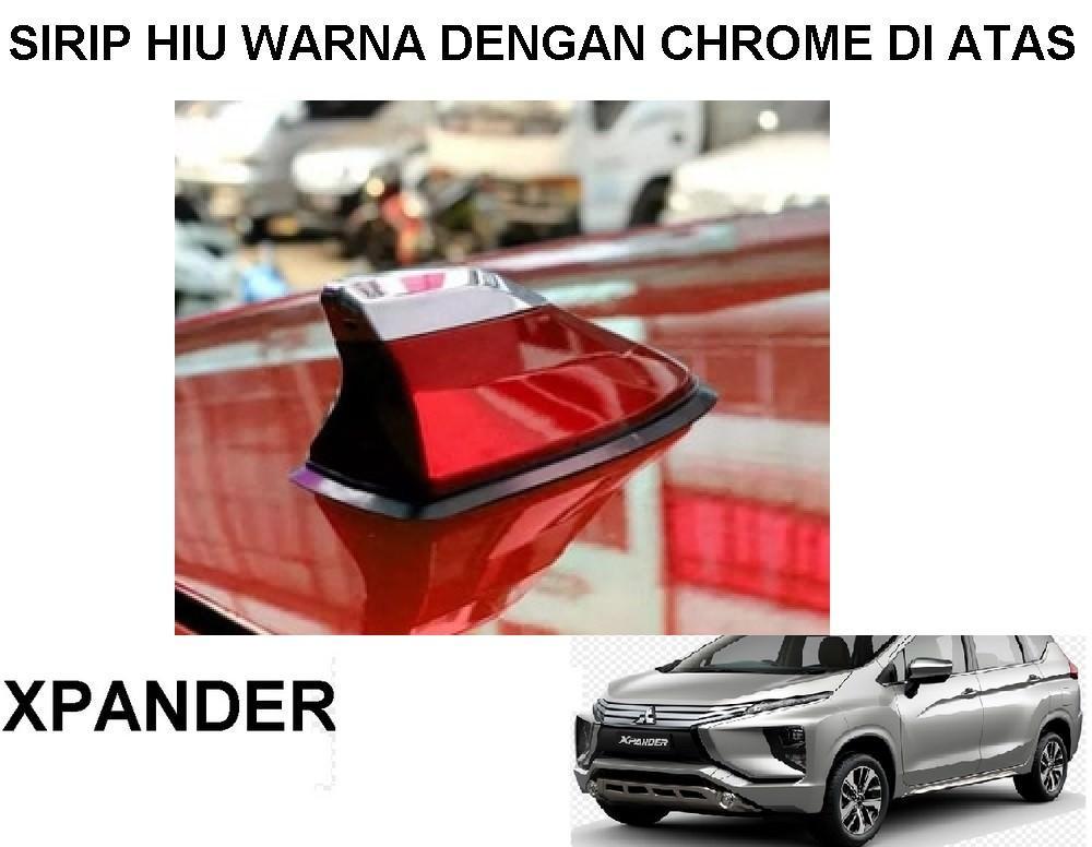 Antena Sirip Hiu Mobil Xpander Universal Warna Dengan Chrome Diatas