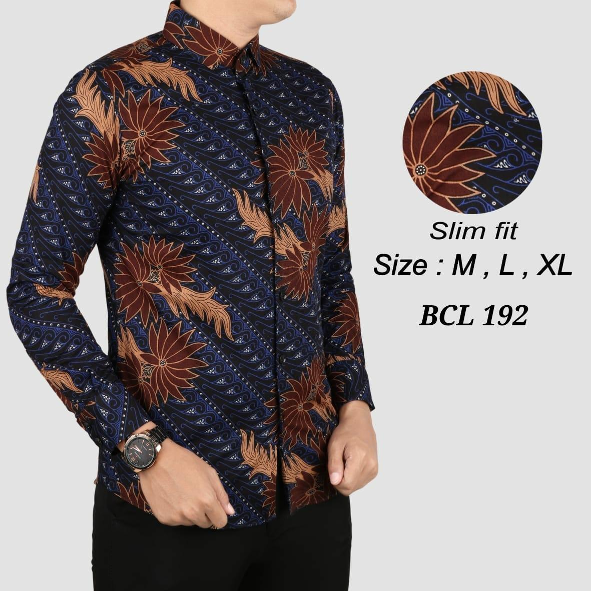 Baju Kemeja Batik Pria / Batik Slimfit Pria / Batik Modern / Atasan Pria / Kemeja Batik Terbaru