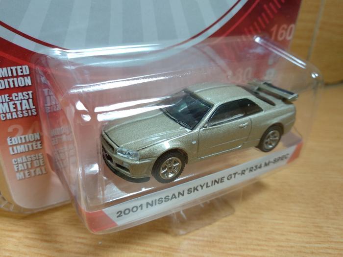 ORIGINAL!!! Nissan Skyline GT-R R34 M Spec Greenlight Tokyo Torque - vbhRND